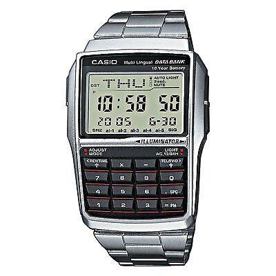 BRAND NEW CASIO STEEL DATABANK CALCULATOR WATCH DBC32D-1A **UK SELLER**