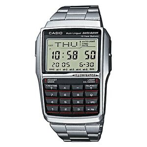 BRAND-NEW-CASIO-STEEL-DATABANK-CALCULATOR-WATCH-DBC32D-1A-UK-SELLER