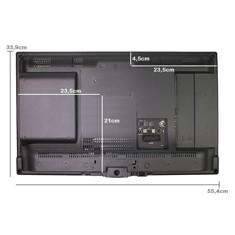 Gelhard GTV2442 LED Fernseher 24 Zoll DVBSS2T2C, DVD, 12V 230 Volt Wohnmobil