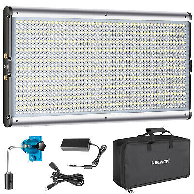 Neewer Bi-color 960 Dimmable LED Professional Video Light Panel with Carry Bag