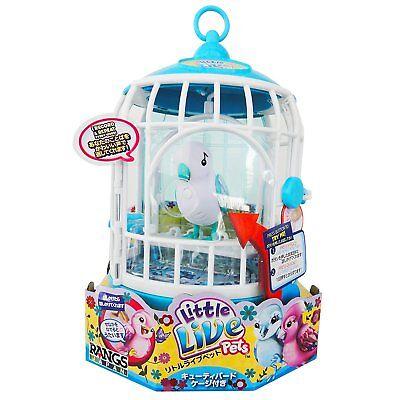 Little Live Pets Talking White Bird Singalong Sammy w/ Cage Original