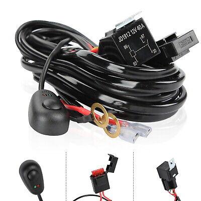 40A 12V LED Light Bar Rocker On/Off Switch Relay Fuse Wiring Harness Loom Kit UK