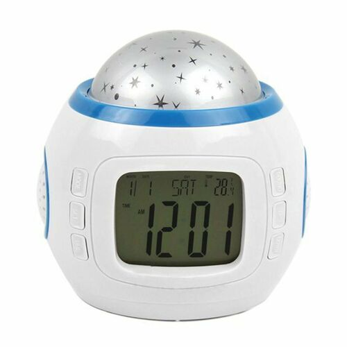 Color Change Starry Night Projection Music Digital Alarm Clock With Backlight Le