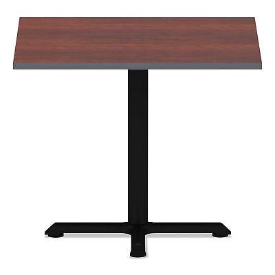 Alera Reversible Laminate Table Top Square 35 12 X 35 12 Medium Cherry