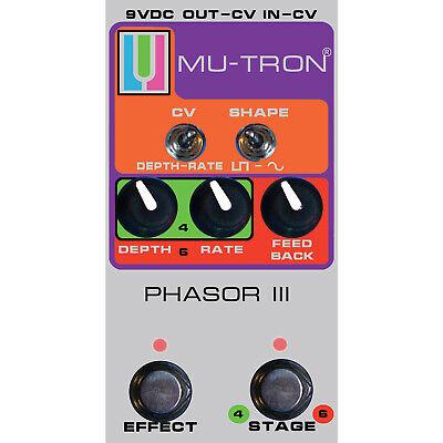 MU-TRON PH3-Vintage Phasor III Vintage Silver Guitar Effects Pedal