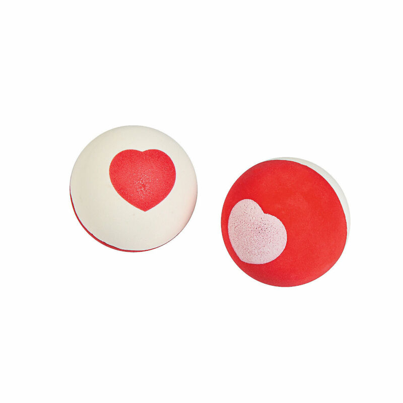 Valentine Heart Bouncy Balls - Toys - 12 Pieces