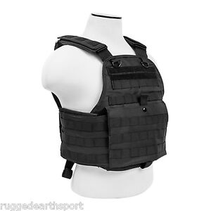 NEW-PLATE-CARRIER-MOLLE-PALS-TACTICAL-VEST-CHEST-RIG-BLACK-CVPCV2924B