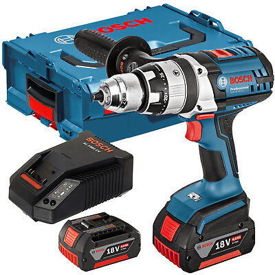 Bosch 18V GSB 18 VE-2-LI Combi Drill with 2 x 4.Ah Batteries & Charger in (Bosch 18v Li Combi Drill 2 Batteries)