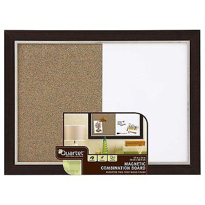 Quartet Home Decor Combination Board 17 X 23 Inches Dry-erasecork Espresso