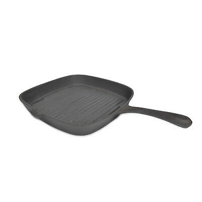 """Evelyne Pre-Seasoned Cast Iron Steak Grill Griddle Stovetop Oven Camping 9""""x9"""""""