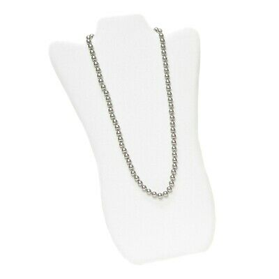 White Faux Leather Necklace Chain Jewelry Display Holder Padded Neck Easel - Padded Necklace Display Easel
