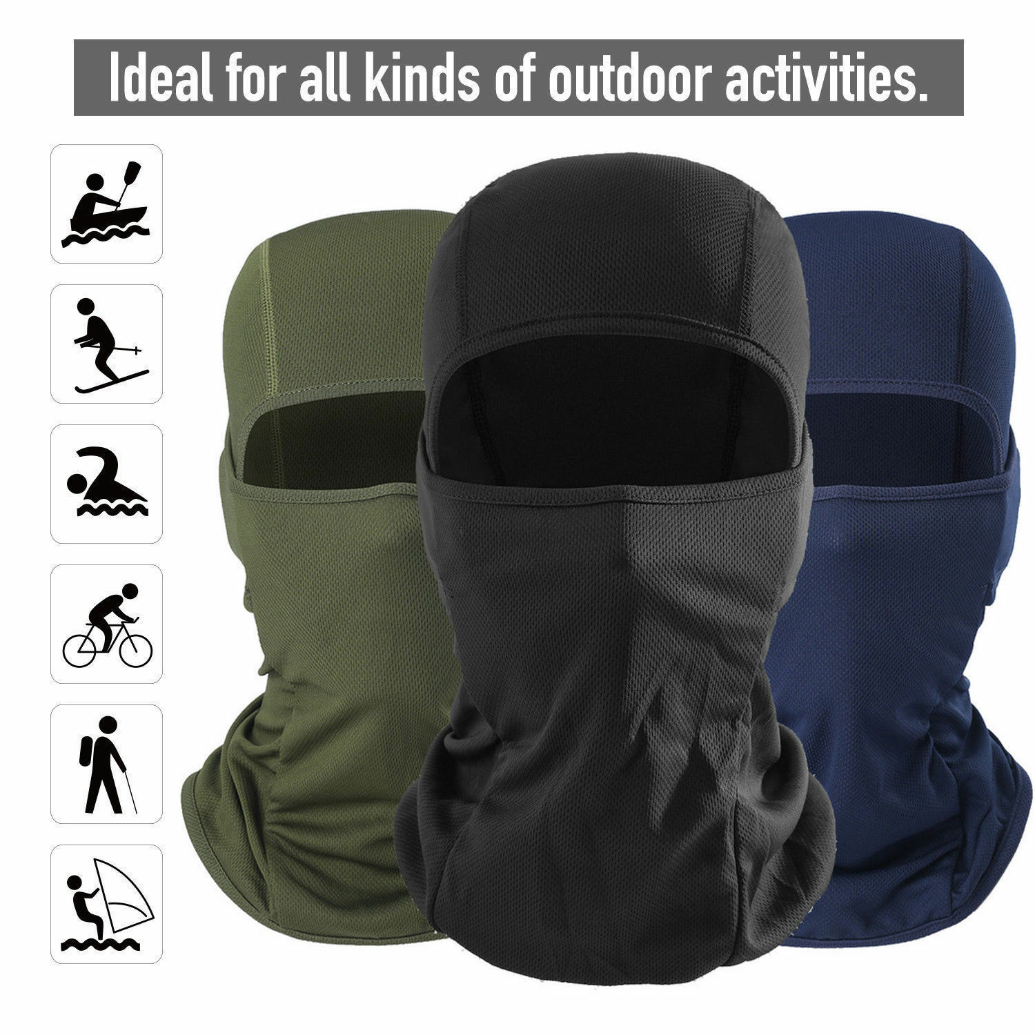 Balaclava Tactical Face Mask UV Protection for Men Women Hood Cycling Running US Clothing, Shoes & Accessories