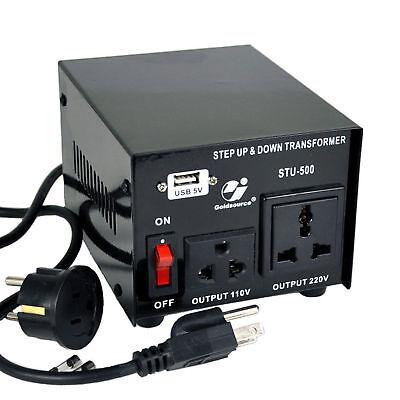 Goldsource 500 Watt Step Up Down 110v 220v Voltage Converter Transformer