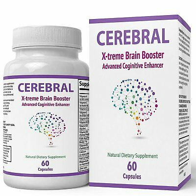 Cerebral X - treme Brain Booster Supplement | Natural Nootropics For Mental...