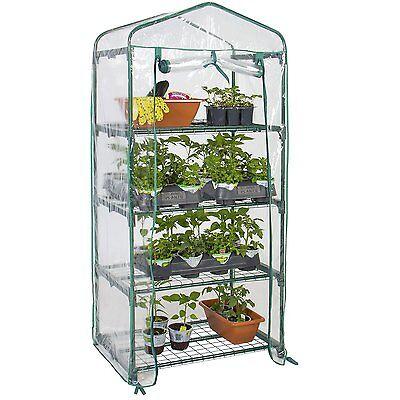 4 Shelves Green house Portable Mini Outdoor Courtyard Green House Garden