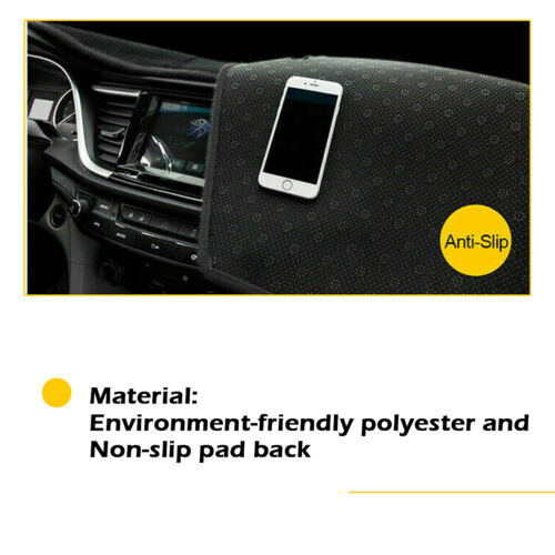 Black Left-Hand-Drive Car Dash Cover Mat Dashboard Pad For