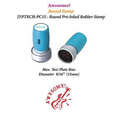 Awesome Jyp Pc15 Pre-inked Rubber Teacher Stamp Red Ink