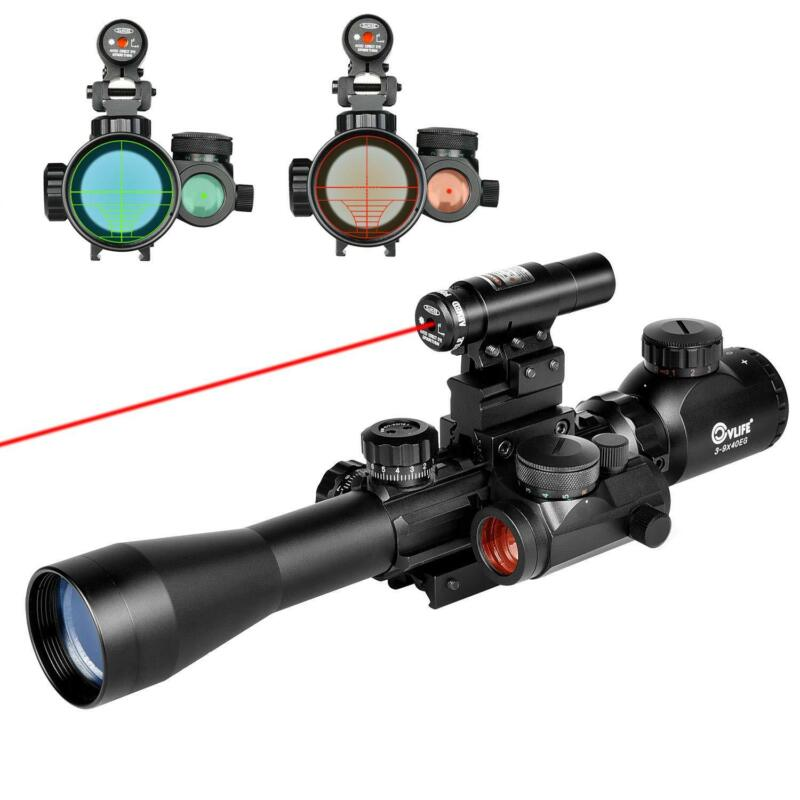 Купить Unbranded - 3-9X40 Illuminated Tactical Rifle Scope with Red Laser & Holographic Dot Sight