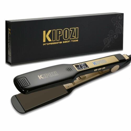 KIPOZI Hair Straightener1.75 Inch Wide Titanium Flat Iron wi