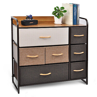 Mix Drawer Dresser Closet Storage Organizer 7-Drawer Closet Shelves for Clothing