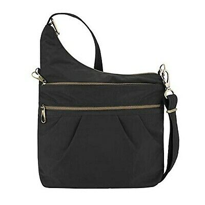 Travelon Anti-theft Signature 3 Compartment Cross Body Bag,