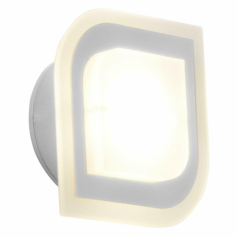 Chrom//Glas 130 Lumen A+ BRILLIANT SAN FRANCISCO LED Wandleuchte 1,6 Watt 2-flg