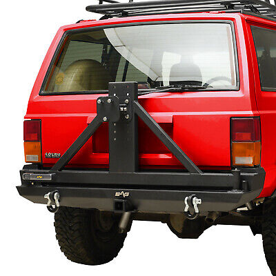 Rear Bumper with Tire Carrier Fits 84-01 Jeep Cherokee