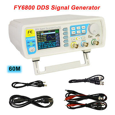 Fy6800 60mhz Dual-channel Arbitrary Waveform Dds Function Signal Generator Pulse