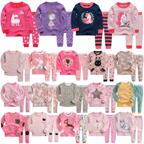 "Vaenait Baby Kids Toddler Girls Long Clothes Pajama Set 18M-12Y ""G40 Style"""