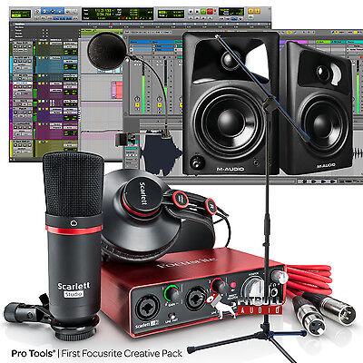 Focusrite Scarlett Studio 2Nd Gen Home Recording Bundle Av32 2I2 Pro Tools