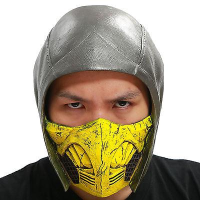 Scorpion Mask (Scorpion Helmet Mask MKX Cosplay Costume Accessories for Halloween PVC)