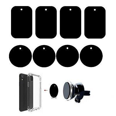 8× Metallplättchen Set für Magnetisch KFZ Handy Halterungen Ersatz Metallplatten