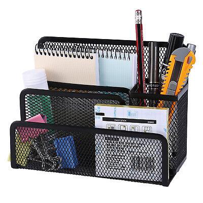 Desk Organiser Pen Letter Mesh Holder Stationery Container Office School Home Us