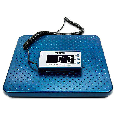 Digital Postal Scale Ware House Mail Room Shipping 440lb Weight Stainless Steel