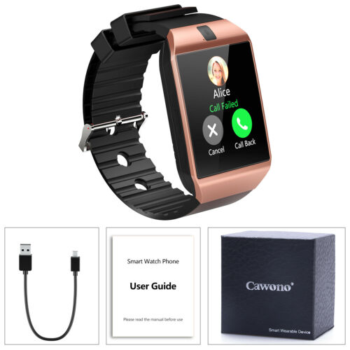 DZ09 Bluetooth Smart Watch Phone + Camera SIM Card For Android IOS Phones Women