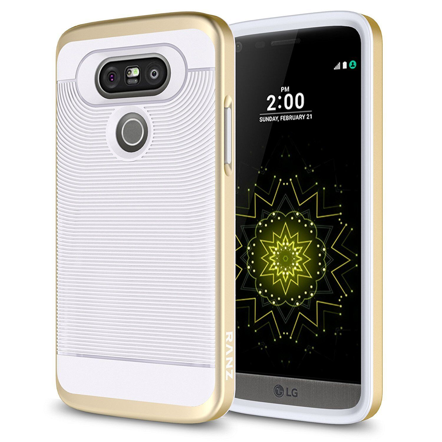 LG G5 Case, Textured Pattern Grip with PC Shock Proof Case +
