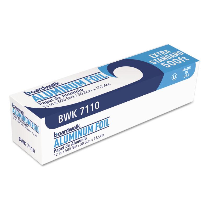 "Boardwalk Premium Quality Aluminum Foil Roll 12"" x 500 ft 16 Micron Thickness"