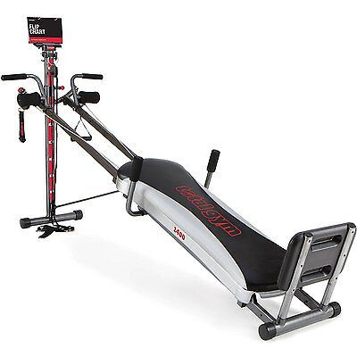 Domicile Exercise Whole Gym 1400 Deluxe Well-being Gadget Equipment Workout DVD Go bankrupt