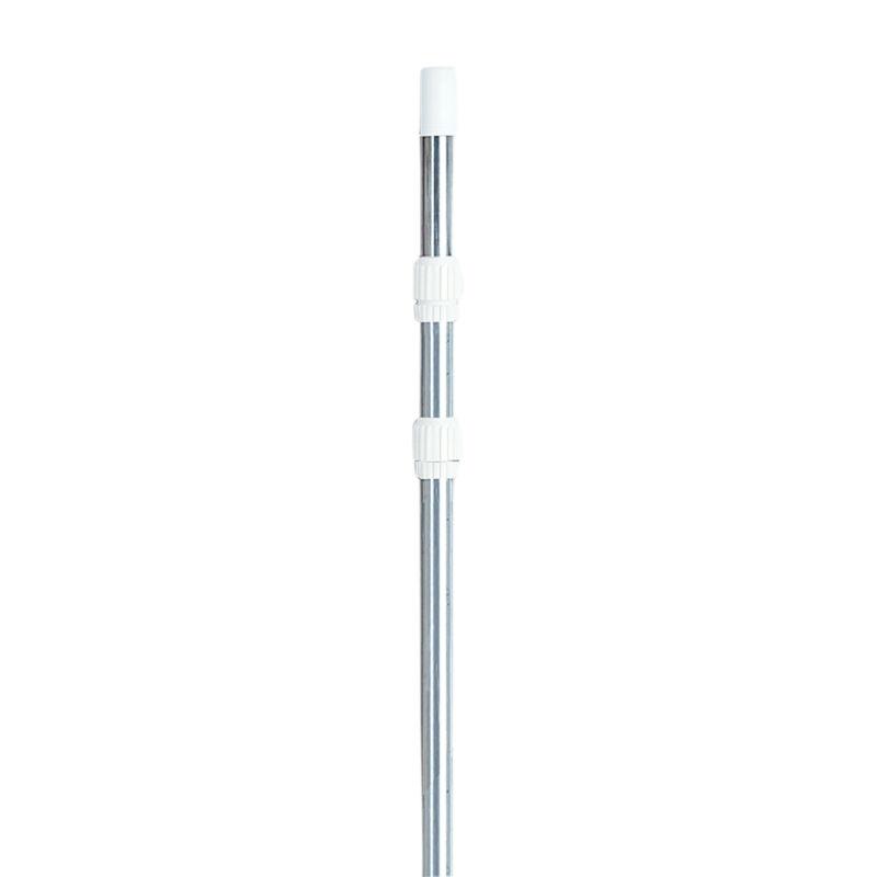 Swimline 3 Piece 4 to 12 Foot Heavy Duty Universal Telescopic Pool Pole, Silver