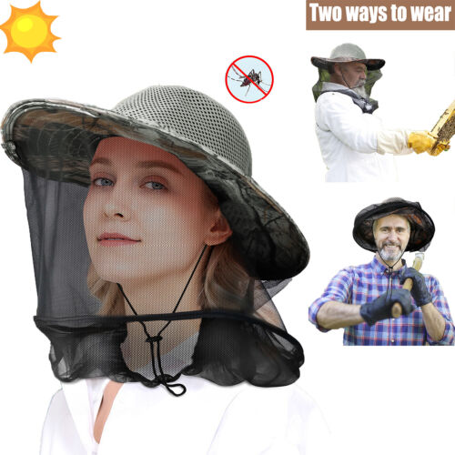Beekeeping BeeKeeper Cowboy Hat Mosquito Veil Smock Equipment Sun Cap Protection