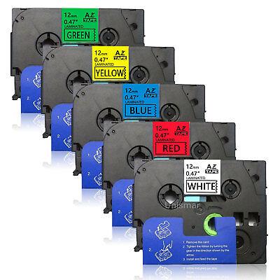 5pk Tze231-731 12mm 12 Multicolor Label Tape Brother P-touch Pt-1700 Pt-d600