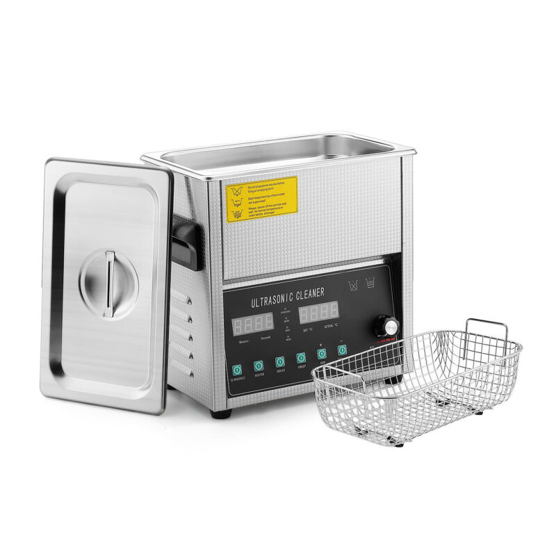 Commercial Ultrasonic Jewelry Cleaner Machine (3 Liter) Sweep & Degassing