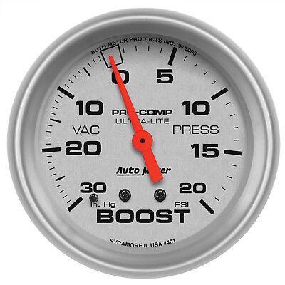 Autometer 4401 Ultra-Lite Vacuum/Boost Gauge 2-5/8 in., Mechanical