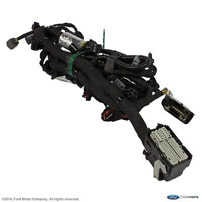 AUDI OEM 13-15 Q7-Engine Control Module ECM PCU PCM Wiring Harness 4L0971095DL