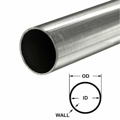 316 Stainless Steel Round Tube 1-58 Od X 0.065 Wall X 60 Long Seamless