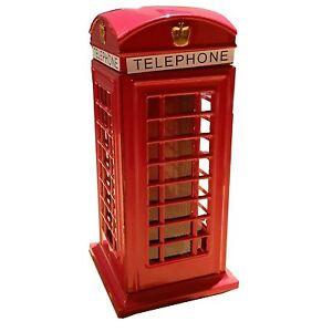 RED TELEPHONE BOTH BOX MONEY BOX SAVINGS BANK SOUVENIR GIFT BRITISH UK LONDON GB