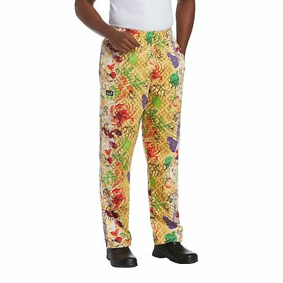 New Chefwear Mens 100 Cotton Baggy Chef Pants Yellow Coastal Harvest Xs-5xl