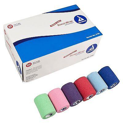 "Sensi Wrap Self Adherent Bandages, Rainbow Colors, 3"" x 5 yds, Pack of 10, 3183"