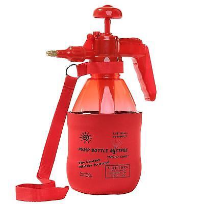 Red Pump Bottle Mister 1.5L/40oz Water Sprayer With Half Sleeve Strap