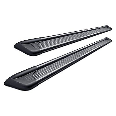 """For Ford F-150 04-14 Running Boards 6"""" Sure-Grip Wheel-to-Wheel Black Running"""